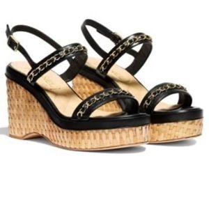 Chanel Agneau Sandals